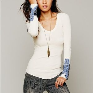 Free People • Kyoto Cuff Thermal Top Sz S